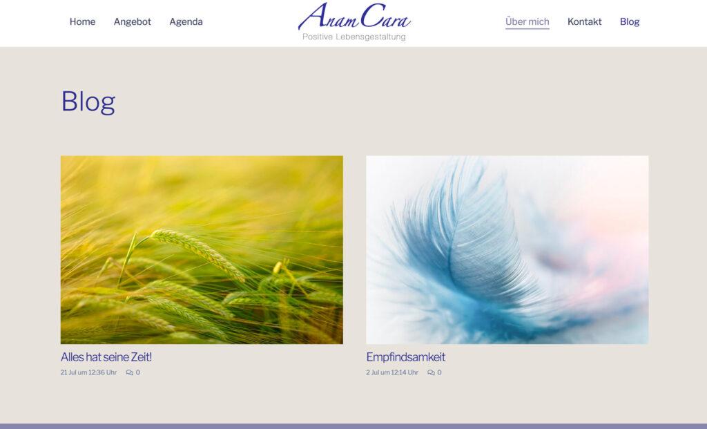 Referenzbild Website AnamCara
