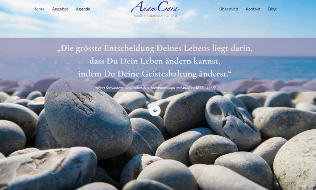Referenzbild Website AnanCara