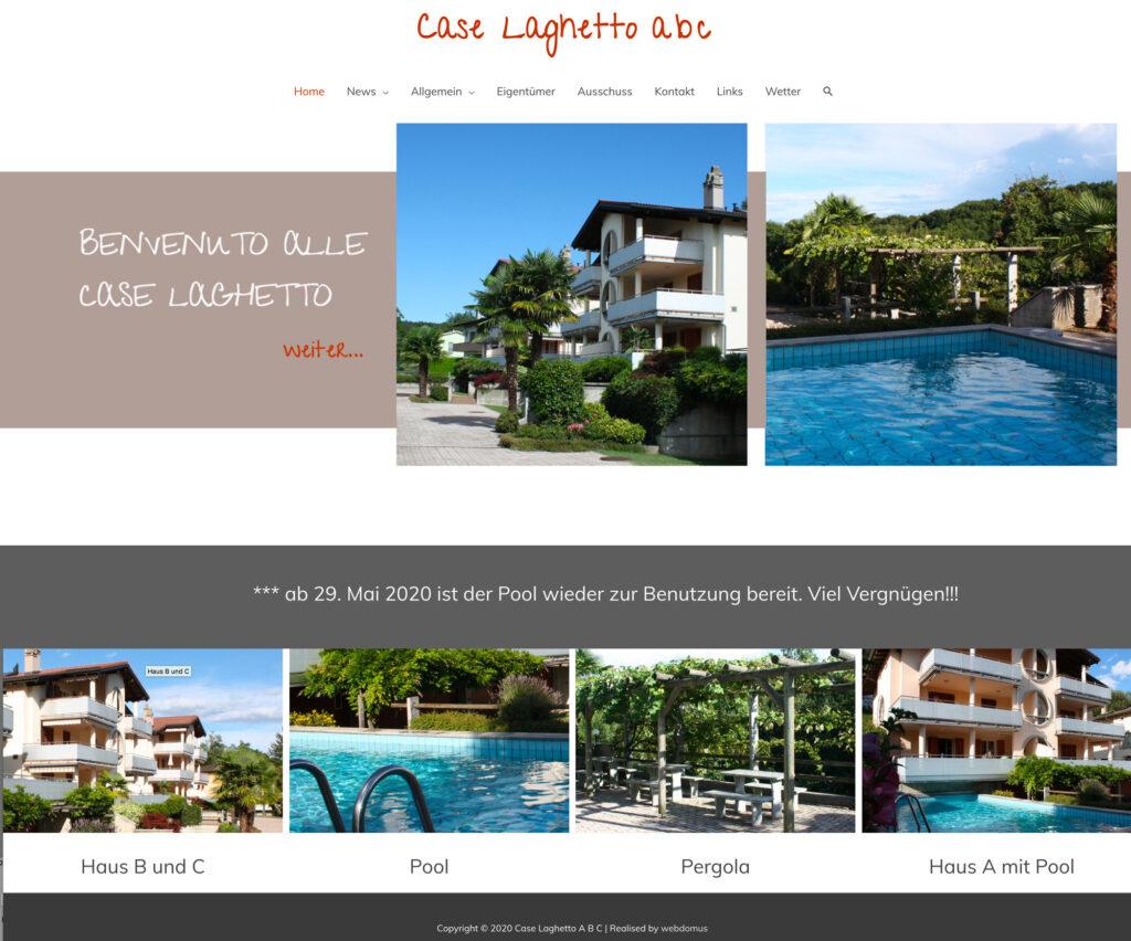 Referenzbild Website Case Laghetto