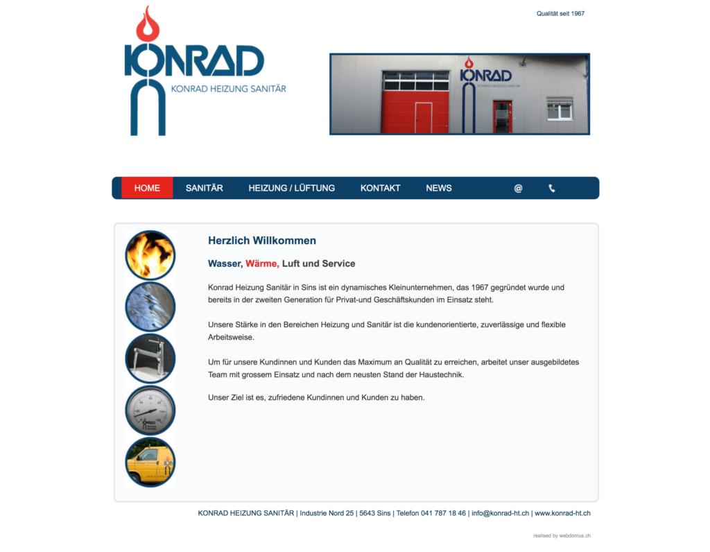 Referenzbild Website Konrad Heizung Sanitär