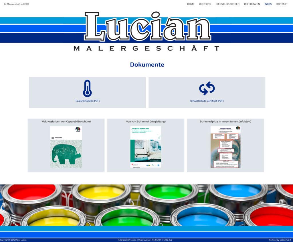 Referenzbild Website Maler Lucian