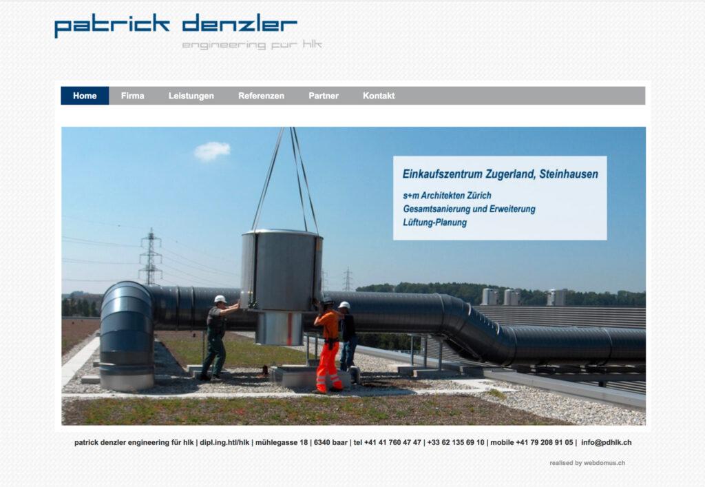 Referenzbild Website Patrick Denzler