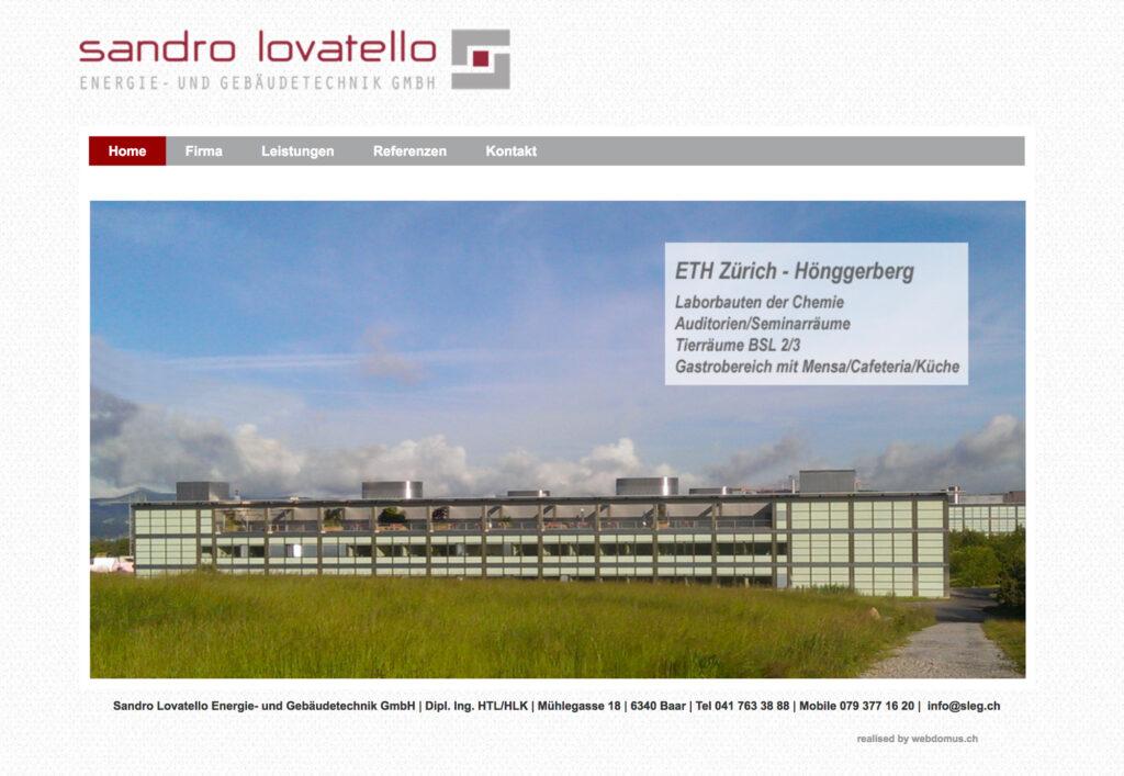 Referenzbild Website Sandro Lovatello