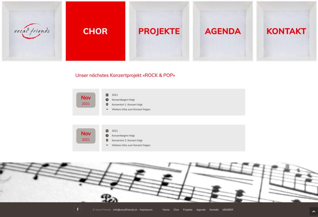 Referenzbild Website Vocalfriends Sins